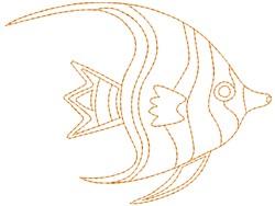 Angelfish embroidery design
