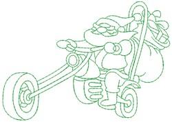 Motorcycle Santa embroidery design