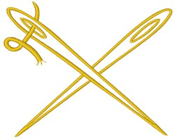 Crossed Sewing Needles embroidery design