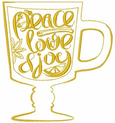 Peace Love & Joy embroidery design