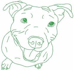 Pitbull embroidery design