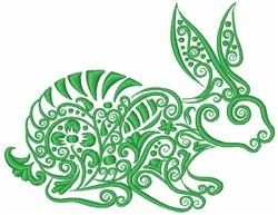 Swirly Rabbit embroidery design