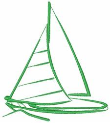 Boat embroidery design