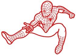 Spiderman embroidery design