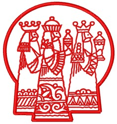 Wisemen embroidery design
