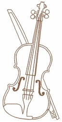 Violin embroidery design