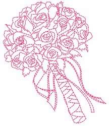 Bouquet of Flowers embroidery design