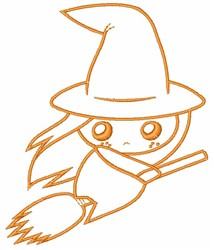 Cute Witch embroidery design