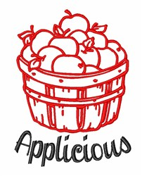 Applicious Apples embroidery design