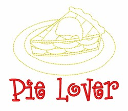 Apple Pie Lover embroidery design