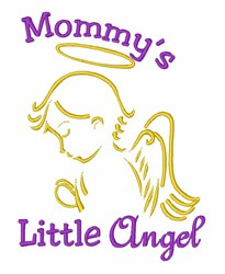 Mommys Little Angel embroidery design