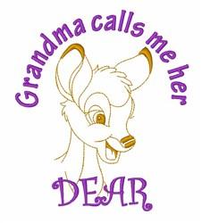 Grandmas Deer embroidery design