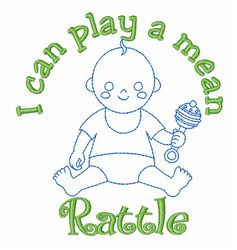 Baby Boy Rattle embroidery design