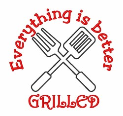 Grilling Utensils embroidery design