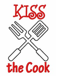 Kiss Cook Utensils embroidery design