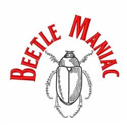 Beetle Maniac embroidery design