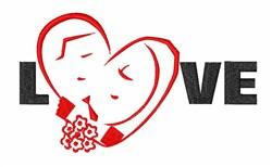Love Heart Wedding embroidery design