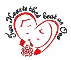Love Heartbeat Wedding embroidery design