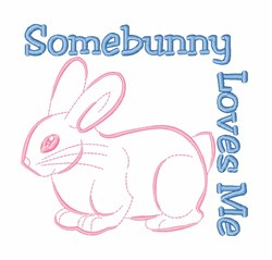 Easter Bunny Love embroidery design
