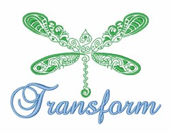 Dragonfly Transform embroidery design
