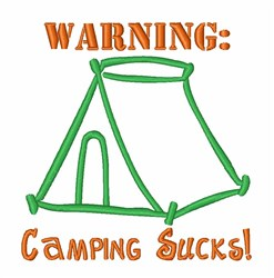 Camping Sucks Tent embroidery design