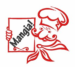 Mangia Top Chef embroidery design