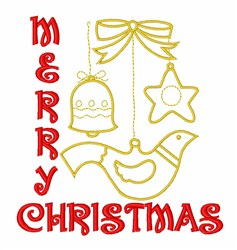 Merry Christmas Ornaments embroidery design