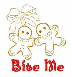 Bite Me Gingerbread embroidery design