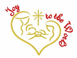 Joy to the World Nativity embroidery design