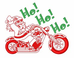 Santa Claus Motorcycle embroidery design