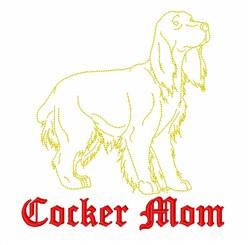Cocker Spaniel Mom embroidery design