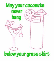 Coconut Cocktail embroidery design