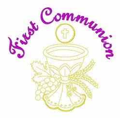 First Communion Chalice embroidery design