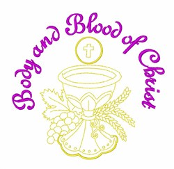 Body & Blood Chalice embroidery design