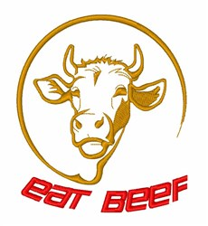 Eat Beef Cattle embroidery design
