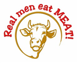 Eat Meat Cattle embroidery design