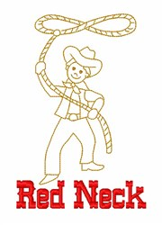 Red Neck Cowboy embroidery design
