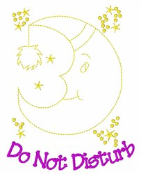 Moon Do Not Disturb embroidery design