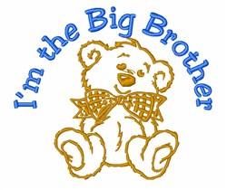 Big Brother Bear embroidery design