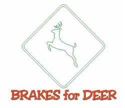 Brakes For Deer embroidery design