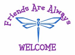 Dragonfly Friends embroidery design