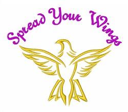 Eagle Bird Spread Wings embroidery design