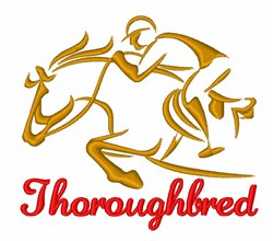 Horse Racing Jockey embroidery design