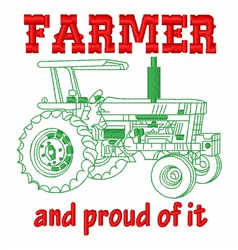 Proud Farmer embroidery design