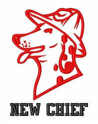 New Fire Chief Dog embroidery design