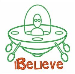 I Believe In Aliens embroidery design
