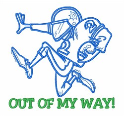 Football Player Got Game embroidery design
