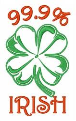 Irish Clover Lucky Shamrock embroidery design
