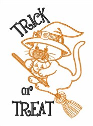 Trick Or Treat Cat embroidery design