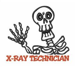 Halloween Skeleton XRay Tech embroidery design